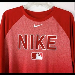 MLB Nike shirt | Red Nike 3 quarter sleeve shirt